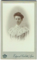 Photo CDV. Femme élégante. Foto Edgard Colette, Spa. - Fotos