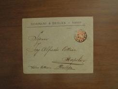 LETTERA Pubblicitaria Del 2. 5. 1897  TORINO FERROVIA, POSILLIPO (NAPOLI) 3. 5. 1897  - POSTE ITALIANE DUE CENTESIMI - Publicidad