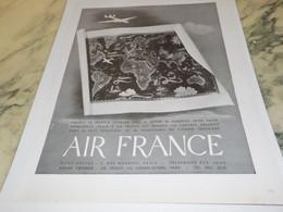 ANCIENNE PUBLICITE AVION AIR FRANCE - Publicités
