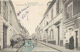 CPA Montlhéry La Grande Rue Et La Mairie - Montlhery