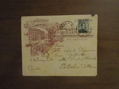 LETTERA Pubblicitaria Del 19. 1. 07   ROMA FERROVIA  - Cent. 15 POSTE ITALIANE - 1900-44 Vittorio Emanuele III