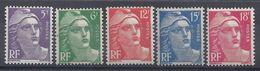 FR - 1951 - Marianne De Gandon - Série N° 883/887 - Neufs Charnières/traces - X - Cote 17 € - B/TB - - France