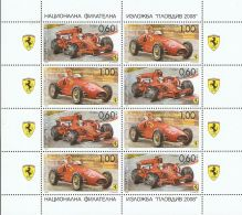 Bulgaria 2008 Mi# 4868-4869 Kleinbogen (2 X 4) ** MNH - Racing Cars / Ferrari - Unused Stamps