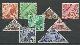 TANNU TUVA 1934 Michel 49 - 57 * - Tuva