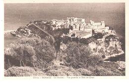POSTAL  - MONACO   - LE ROÉCHER -VISTA SOBRE LA CABEZA DE PERRO (LE ROCHER -VUE PRISE DE LA TÊTE DE CHIEN ) - Mónaco