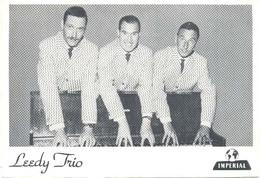 Leedy Trio  ( 2 X Scan) Promotiekaart (muziekgroep / Artiesten) - Artiesten