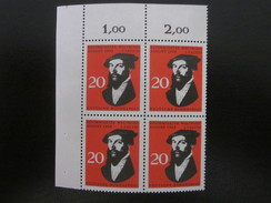 BRD Nr. 439 Viererblock Eckrand Postfrisch** (B46) - BRD