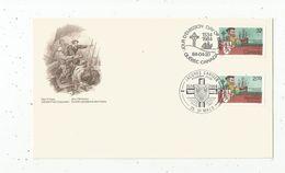 Timbre, FDC , 1 Er Jour , Jacques CARTIER , 1984 , Canada , Quebec , 35 , Saint Malo - 1981-1990