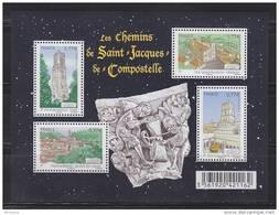 Les Chemins De Saint Jacques De Compostelle, Paris, Le Puy En Velay, Vézelay Et Arles 4 Timbres à 0.77€ N° F4641 Ne - Sheetlets