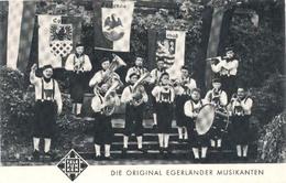 Die Original Egerlander Musikanten  ( 2 X Scan) Promotiekaart (muziekgroep / Artiesten) - Artiesten