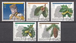 Suisse 1992 Mi.Nr: 1483-1487 Weihnachten, Waldbäume  Oblitèré / Used / Gebruikt - Gebruikt