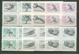 Austria 1963 - Olympische Spiele Insbruck In Viererblock, MNH** - 1961-70 Nuovi & Linguelle