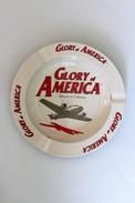 Cendrier Publicitaure Cigarettes Métal Avion Glory Of America Splendeur De L'Amérique - Metall