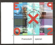 Schweiz 2002 // Michel 1785/1788 O 4er Block (2780) - Switzerland