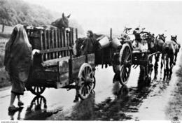 Militaria WW2 - Réfugiés Français Sur La Route De L'exode En Mai 1940 - 1939-45