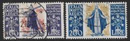 Italy Scott #C127-8 Used St. Catherine, 1948 - Poste Aérienne