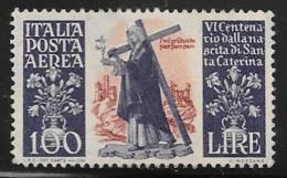 Italy Scott #C127 Unused No Gum St. Catherine, 1948 - Poste Aérienne
