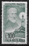 Italy Scott #C129 MNH Mazzini, 1955 - Poste Aérienne