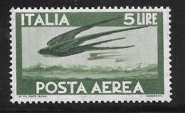 Italy Scott #C130 MNH Swallows, 1962 - Poste Aérienne