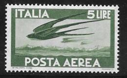 Italy Scott #C130 Mint Hinged Swallows, 1962 - Poste Aérienne