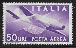Italy Scott #C131 Mint Hinged Plane, Hands, 1957 - Poste Aérienne