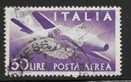 Italy Scott #C131 Used Plane, Hands, 1957 - Poste Aérienne