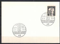 BRD, MiNr. 635 SSt Essen - Int. Fachmesse Schweissen U. Schneiden 27.09.1973 - [7] Federal Republic