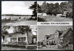 A1155 - Alte MBK Ansichtskarte - Körba - Kr. Herzberg - Zeltplatz Gaststätte Konsum - Schlieben