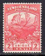 Newfoundland 1919 Newfoundland Contingent 2c Scarlet RN Reserve, Hinged Mint, SG 131 - 1908-1947