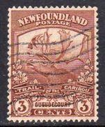 Newfoundland 1919 Newfoundland Contingent 3c Brown Guedecourt, Used, SG 132 - Newfoundland