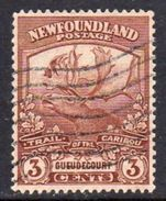Newfoundland 1919 Newfoundland Contingent 3c Brown Guedecourt, Used, SG 132 - 1908-1947