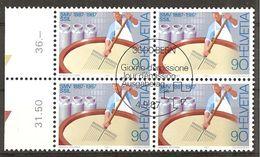 *Schweiz 1987 // Michel 1353 O 4er Block (2782) - Berufe