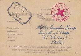 P.M. Prigionieri Di Guerra4 Timbro Rosso Croce Rossa Italiana -Roma - 27-5-43 - Autres