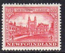 Newfoundland 1933 350th Anniversary Of Annexation 4c Eton College, Hinged Mint, SG 239 - 1908-1947