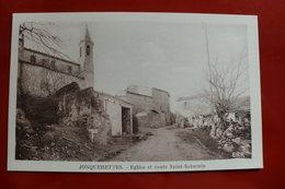 D 84 - Jonquerettes - église Et Route Saint Saturnin - France