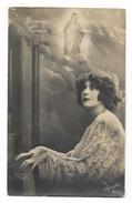BUONA PASQUA DONNA AL PIANOFORTE - FOTOCELERE - VIAGGIATA 1927 FP - Easter
