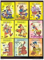 DOMINICA   644-52  MINT NEVER HINGED SET OF STAMPS OF DISNEY ; MUSIC  #  S-111 - Disney