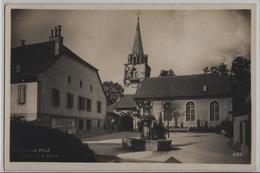 La Tour De Peilz - L'Eglise, Fontaine, - Photo: Perrochet-Matile No. 9752 - VD Vaud