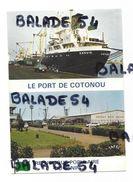 CPM - République Populaire Du BENIN - Port De COTONOU Et Bateau GANVIE - Benin