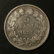 FRANCE 5 FRANCS 1837 LUIS FELIPE W - SILVER - Frankreich