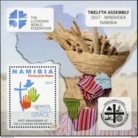 Namibia. 2017. 500th Anniversary Of The Lutheran Reformation (MNH OG **) Souvenir Sheet [DLC.ST-004007] - Namibie (1990- ...)