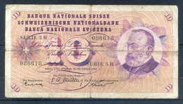 506-Suisse Billet De 10 Francs 1955 Série 5B - Suiza