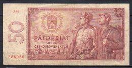 534-Tchécoslovaquie Billet De 50 Korun 1964 J06 - Tchécoslovaquie