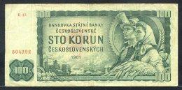 329-Tchécoslovaquie Billet De 100 Korun 1961 R43 - Tschechoslowakei