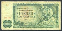 329-Tchécoslovaquie Billet De 100 Korun 1961 T64 - Tschechoslowakei