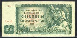 329-Tchécoslovaquie Billet De 100 Korun 1961 X06 - Tschechoslowakei