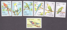 Cambodia, Scott #938-944, Mint Hinged, Birds, Issued 1989 - Cambodia