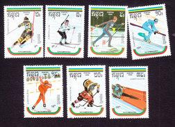 Cambodia, Scott #946-952, Mint Hinged, Olympics, Issued 1989 - Cambodia