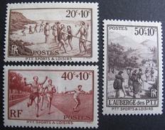 LOT DF/478 - 1937 - PTT SPORTS ET LOISIRS - N°345 à 347 NEUFS* - Unused Stamps