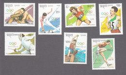 Cambodia, Scott #962-968, Mint Hinged, Olympics, Issued 1989 - Cambodge